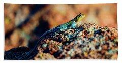 Collared Lizard Bath Towel by Tamyra Ayles