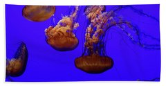 Collection Of Jellyfish Bath Towel