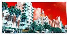 Collins Avenue Pop Art South Beach Hand Towel