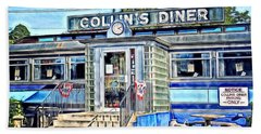 Collin's Diner New Canaan,conn Hand Towel by MaryLee Parker