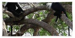 Colobus Monkeys Sitting In A Tree Bath Towel