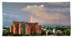 Colombian Rainbow Hand Towel by Randy Scherkenbach