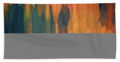 Color Abstraction L Sq Hand Towel by David Gordon