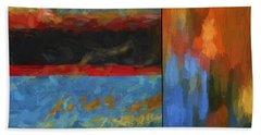 Color Abstraction Li  Bath Towel