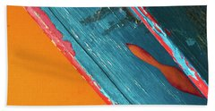 Color Abstraction Lxii Sq Bath Towel by David Gordon