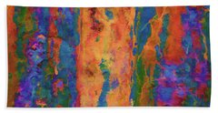 Color Abstraction Lxvi Hand Towel by David Gordon