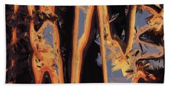 Color Abstraction Xli Hand Towel by David Gordon