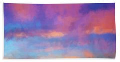 Color Abstraction Xlviii - Sunset Bath Towel by Dave Gordon