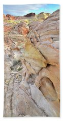 Color At Valley Of Fire State Park Hand Towel by Ray Mathis