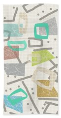 Color Block Hand Towel