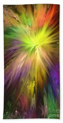 Hand Towel featuring the digital art Color Burst by Greg Moores