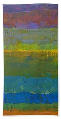 Bath Towel featuring the painting Color Collage Five by Michelle Calkins