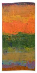 Bath Towel featuring the painting Color Collage Four by Michelle Calkins