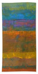 Bath Towel featuring the painting Color Collage One by Michelle Calkins
