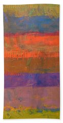 Bath Towel featuring the painting Color Collage Two by Michelle Calkins