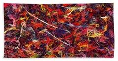 Color Crayons Bath Towel by Anton Kalinichev