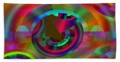 Hand Towel featuring the digital art Color Dome by Lynda Lehmann