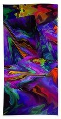 Hand Towel featuring the digital art Color Journey by Lynda Lehmann