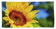 Color Me Happy Sunflower Hand Towel by Christina Rollo