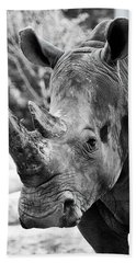 Bath Towel featuring the photograph Color Me Rhino by John Haldane