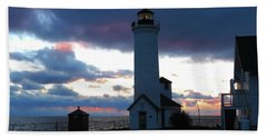 Color Of December, Tibbetts Point Lighthouse Bath Towel