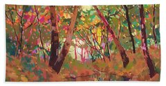 Color Of Forest Hand Towel