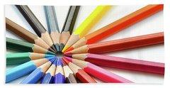 Color Pencils Bath Towel