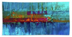 Hand Towel featuring the painting Color Pond by Nancy Merkle