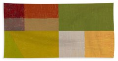 Color Study With Orange And Green Bath Towel