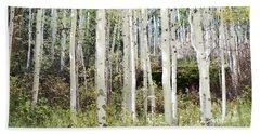 Bath Towel featuring the photograph Colorado Aspen Tree Grove Forest Landscape by Andrea Hazel Ihlefeld