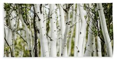 Hand Towel featuring the photograph Colorado Aspens by Dawn Romine