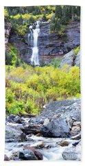 Bath Towel featuring the photograph Colorado Bear Creek Falls Stream Landscape by Andrea Hazel Ihlefeld