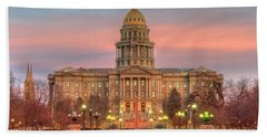 Bath Towel featuring the photograph Colorado Capital by Gary Lengyel