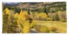 Colorado Fall Mountains Bath Towel