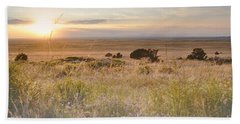 Colorado Field Sunset Landscape Hand Towel by Andrea Hazel Ihlefeld