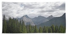 Bath Towel featuring the photograph Colorado Mountain Pine Tree Forest Landscape by Andrea Hazel Ihlefeld