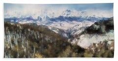 Colorado Mountains 4 Landscape Art By Jai Johnson Hand Towel