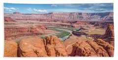 Colorado River And Chicken Corner Trail  Hand Towel