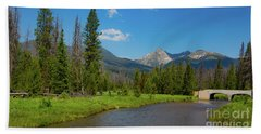 Colorado River And Kawuneeche Valley Hand Towel