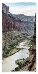 Colorado River And The East Rim Grand Canyon National Park Hand Towel