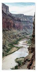 Colorado River And The East Rim Grand Canyon National Park Bath Towel