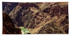 Colorado River From The South Kaibab Trail Hand Towel
