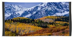 Colorado Rockies In The Fall - Ridgway Bath Towel by Gary Whitton