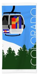 Colorado Ski Country Blue Hand Towel