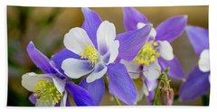 Colorado Wildflower Blue Columbines Bath Towel