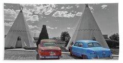 Colored Cars And Tee Pee Motel--holbrook Bath Towel