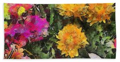 Colored Flowers Hand Towel