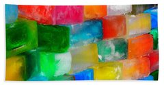 Colored Ice Bricks Hand Towel by Juergen Weiss