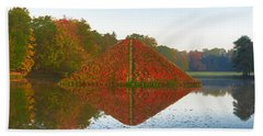 Colored Lake Pyramid Bath Towel
