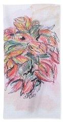 Colored Pencil Flowers Bath Towel